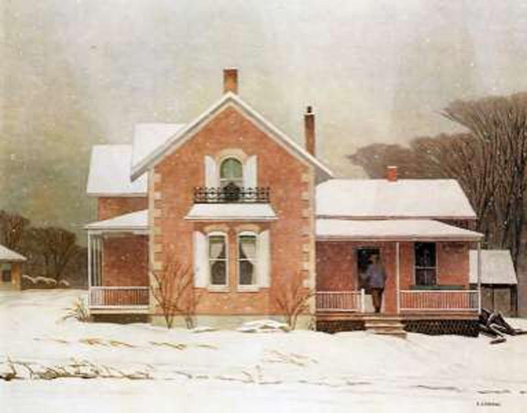Pink Farmhouse0   Golden Eagle Art Gallery