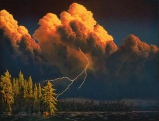 Thunderheads -  Canisbay Lake