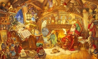 St Nicholas in His Study