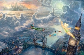 Tinker Bell and Peter Pan Fly to Neverland