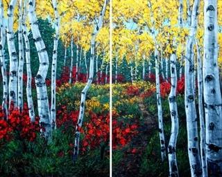 Autumn Air -Diptych